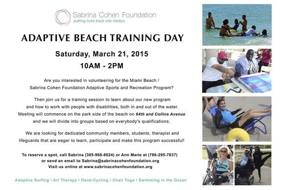 Adaptive Beach Training Day