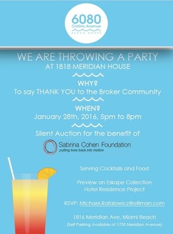 Event with Domus Group to benefit the Sabrina Cohen Foundation