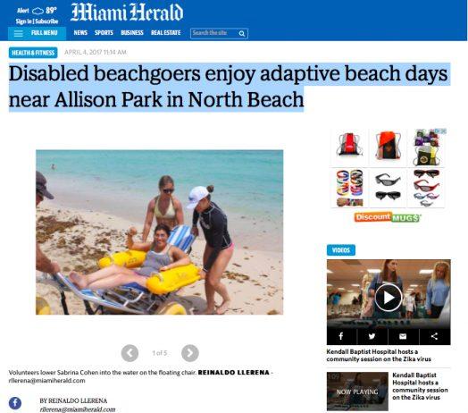 Disabled beachgoers enjoy adaptive beach days near Allison Park in North Beach