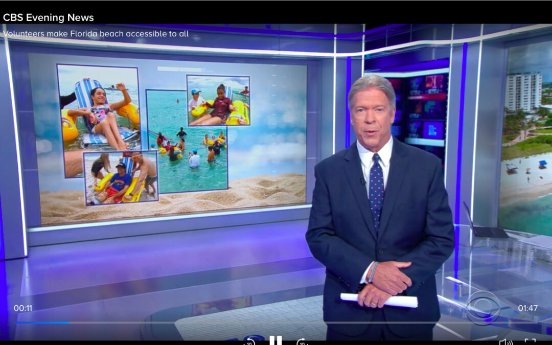 """CBS Evening News Reports! """"Volunteers bring tears of joy to paralyzed residents by making Miami Beach accessible to all!"""""""